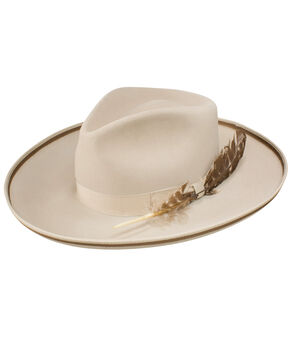 Stetson Men's Renegade Royal DeLuxe Felt Hat, Silver Belly, hi-res