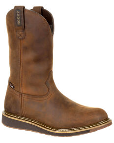 Rocky Men's Cody Waterproof Western Boots - Round Toe, Brown, hi-res