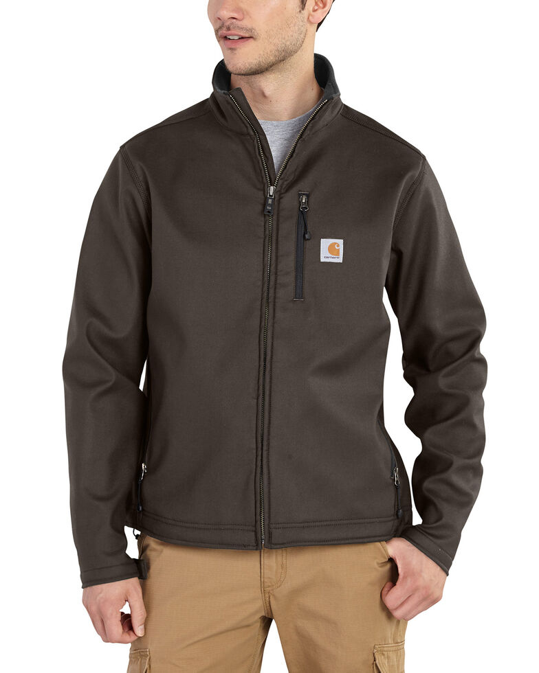 Carhartt Men's Pineville Softshell Work Jacket - Big & Tall, Dark Brown, hi-res