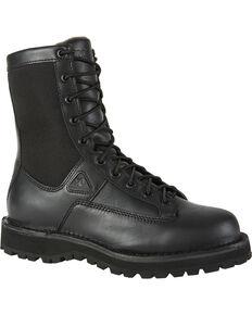 Rocky Men's Portland Lace-to-Toe Duty Boots, Black, hi-res