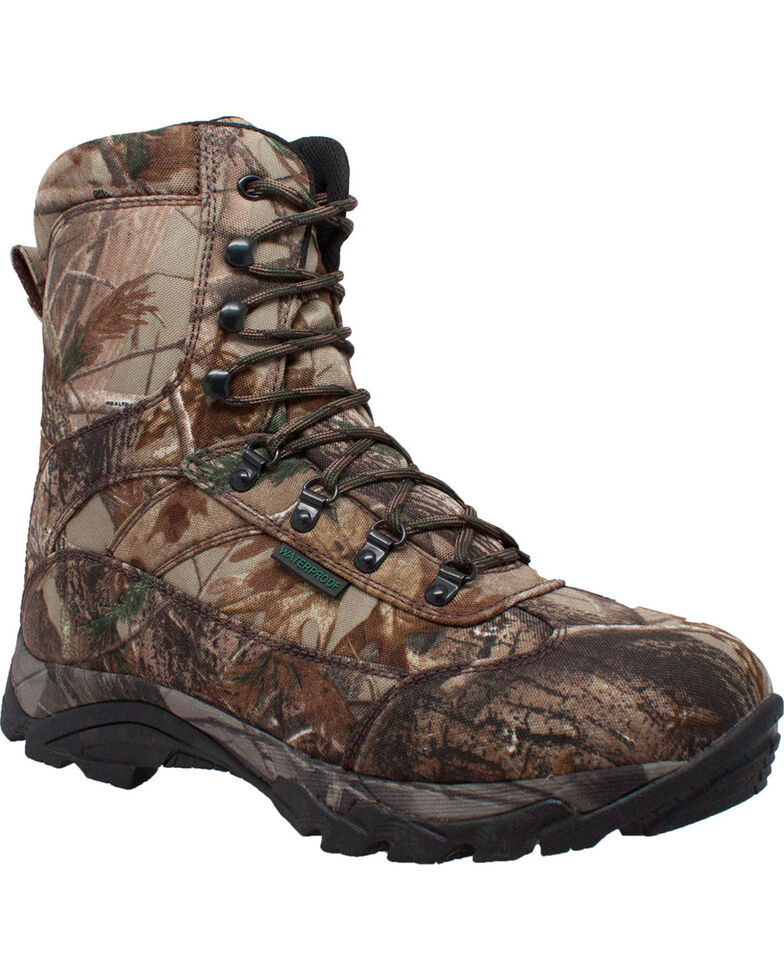 "Ad Tec Men's 10"" Real Tree Camo Waterproof 800G Hunting Boots, Camouflage, hi-res"