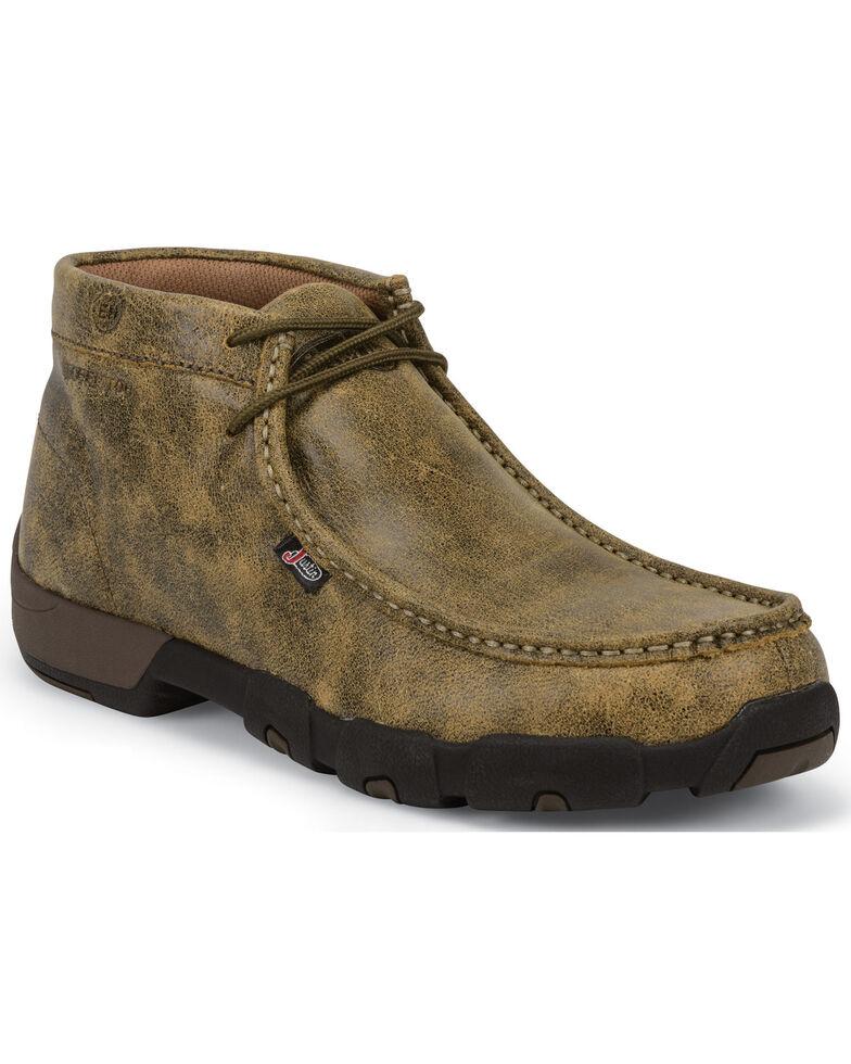 Justin Men's Bomber Steel Toe Work Shoes, Tan, hi-res