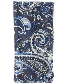 M&F Western Blue Paisley Wild Rag Scarf, Blue, hi-res