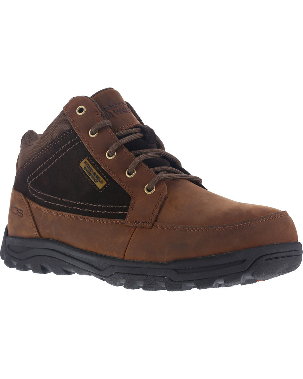 Rockport Men's Trail Hiker Boots - Steel Toe , Brown, hi-res