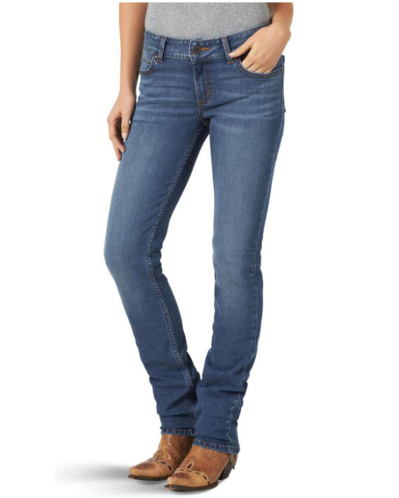Wrangler Retro Women's Sally Mae Straight Jeans , Blue, hi-res