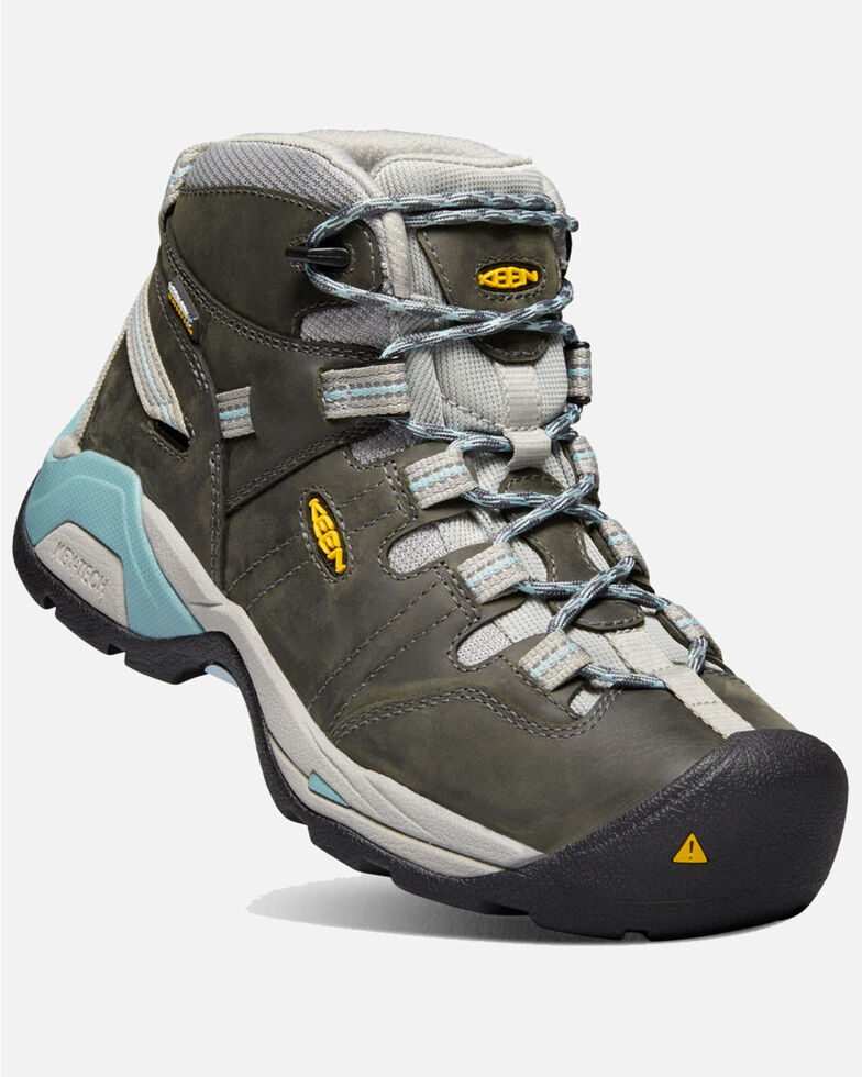 Keen Women's Detroit XT Waterproof Work Boots - Soft Toe, Grey, hi-res