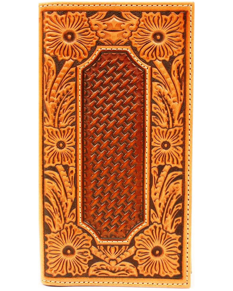 Ariat Men's Rodeo Basket Floral Wallet, Tan, hi-res