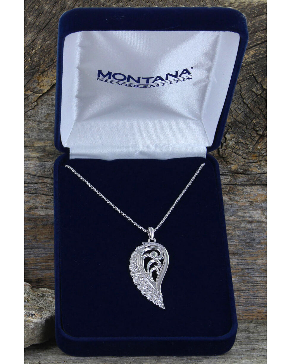 Montana Silversmiths Women's Flying Through The Gates of The Mountains Necklace, Silver, hi-res