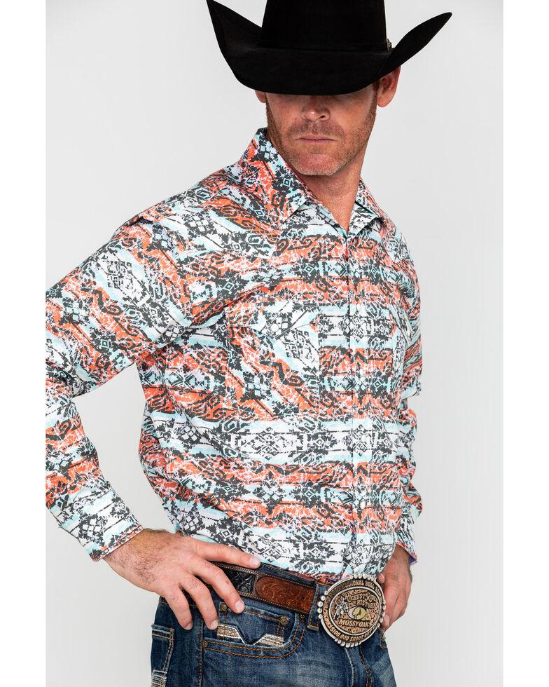 Panhandle Men's Rough Stock Capitola Aztec Print Long Sleeve Western Shirt , Multi, hi-res