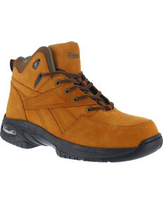 Reebok Men's Tyak Hiking Work Boots - Composite Toe, Tan, hi-res