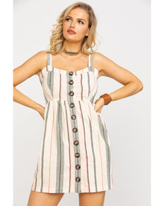 a6e45240e6c Shyanne Women s Blush Stripe Button Down Dress