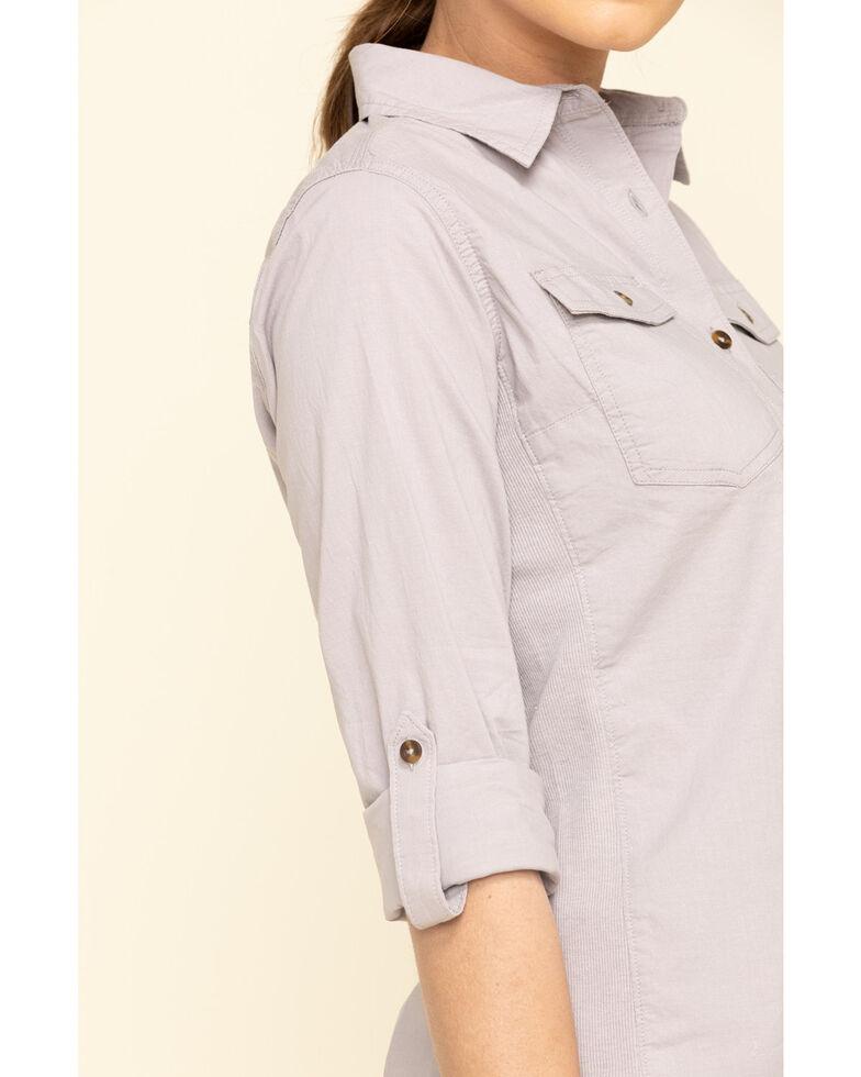 Carhartt Women's Grey Rugged Flex Bozeman Work Shirt  , Grey, hi-res