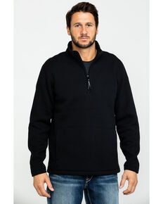 Cody James Men's High Sierra Half Zip Thermal Bonded Fleece Pullover , Black, hi-res