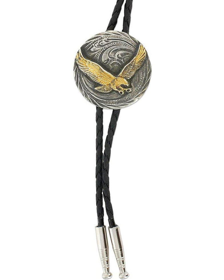 Cody James® Men's Eagle Bolo Tie, Silver, hi-res