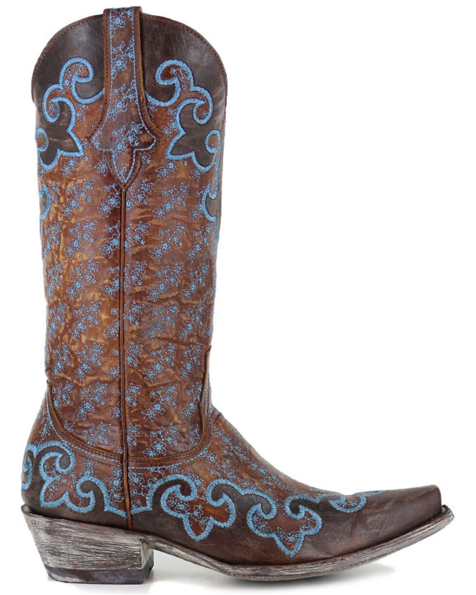 Old Gringo Women's Lynette Western Boots, Brown, hi-res