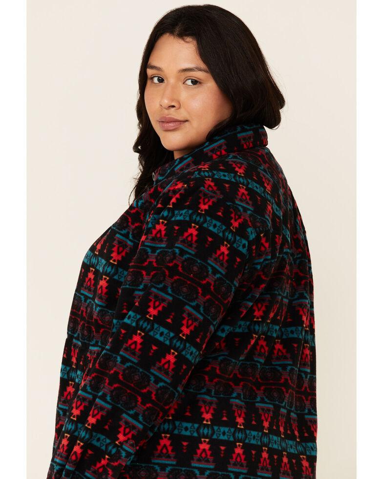 Outback Trading Co. Women's Kai Big Long Sleeve Western Shirt - Plus, Black, hi-res