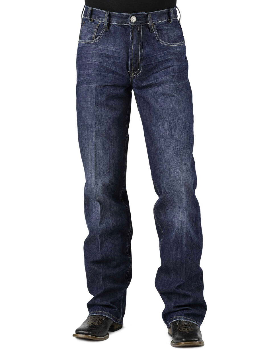 Stetson Men's Modern Fit Boot Cut Jeans, Denim, hi-res