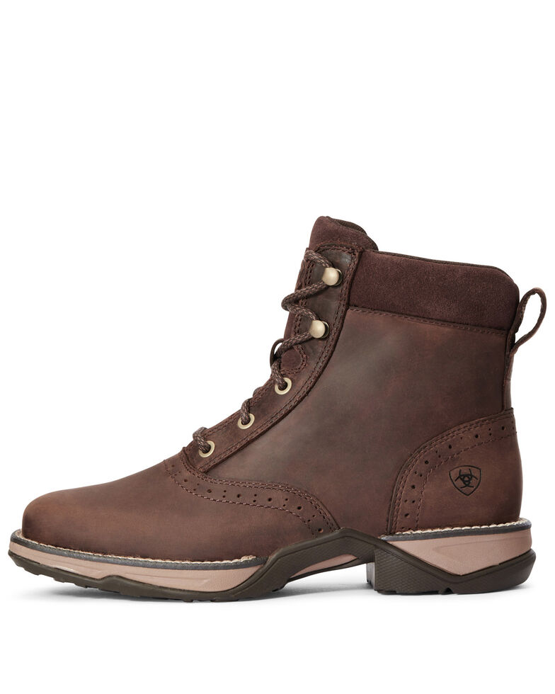 Ariat Women's Anthem Lacer Hiker Boots - Square Toe, Brown, hi-res