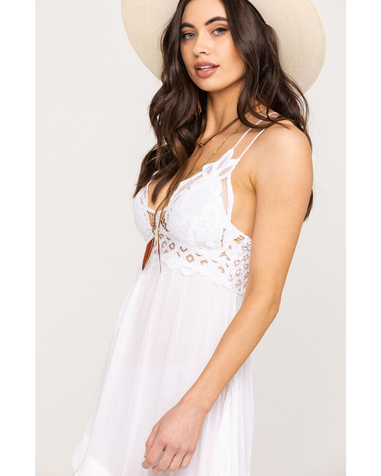 Free People Women's Adella Slip Dress, White, hi-res