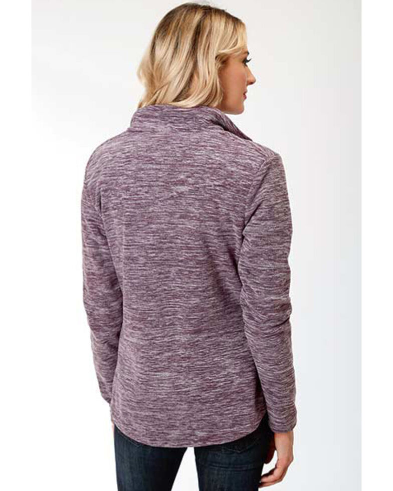 Roper Women's Purple Micro Fleece Jacket , Purple, hi-res