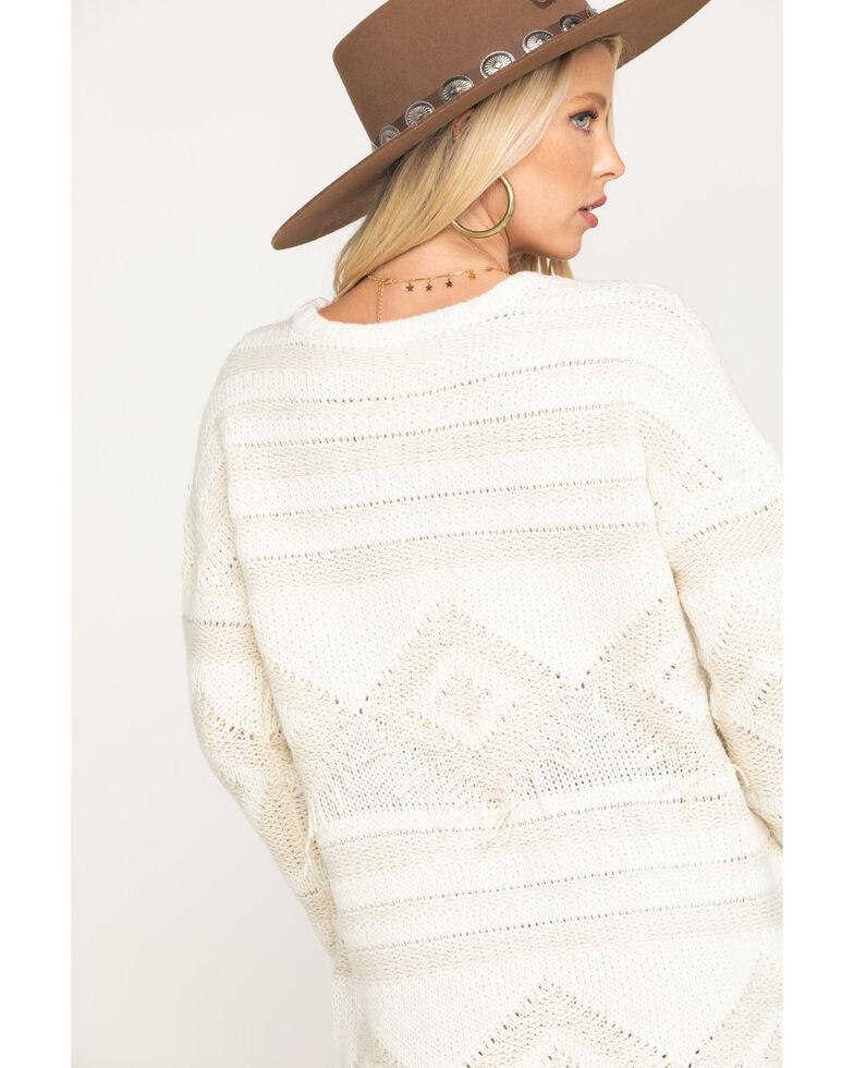 Show Me Your Mumu Women's Cream Canyon Geo Sweater , Cream, hi-res