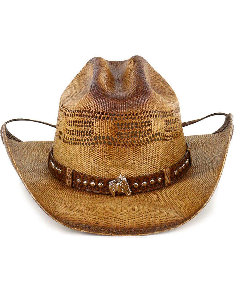 Bullhide Wheel Horse Straw Hat, Natural, hi-res