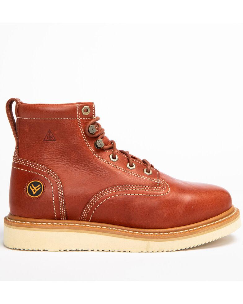 Hawx Men's Grade Wedge Work Boots - Round Toe, Red, hi-res