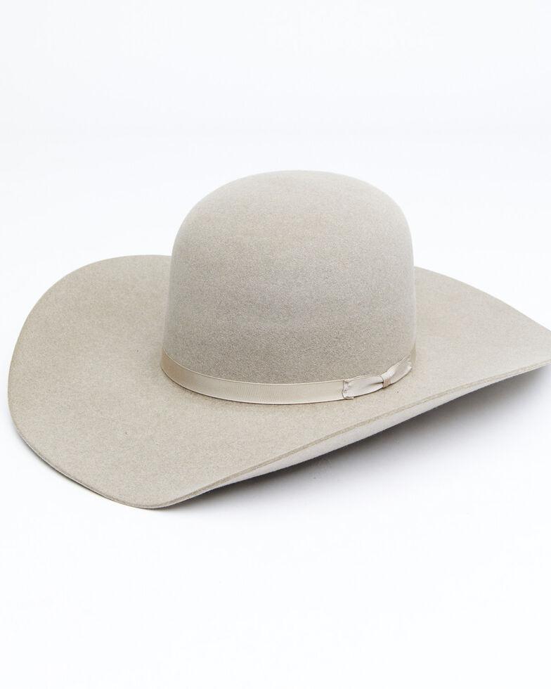 Rodeo King 7X Ash Open Crown Match Band Western Felt Hat, Ash, hi-res