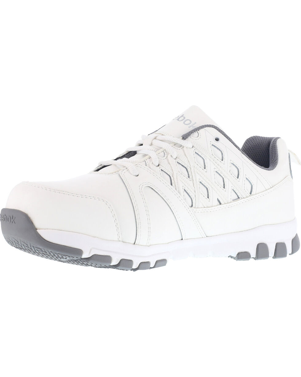 Reebok Women's Athletic Oxford Shoes - Steel Toe , White, hi-res