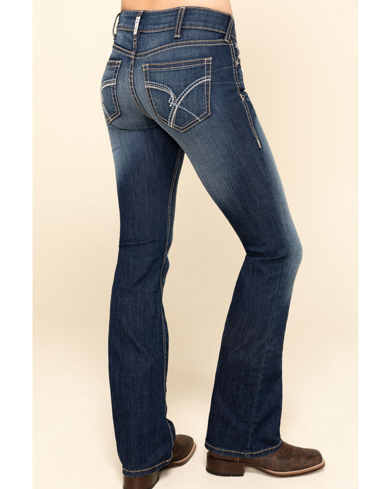 Ariat Women's R.E.A.L Blue Diamond Bootcut Jeans , Blue, hi-res