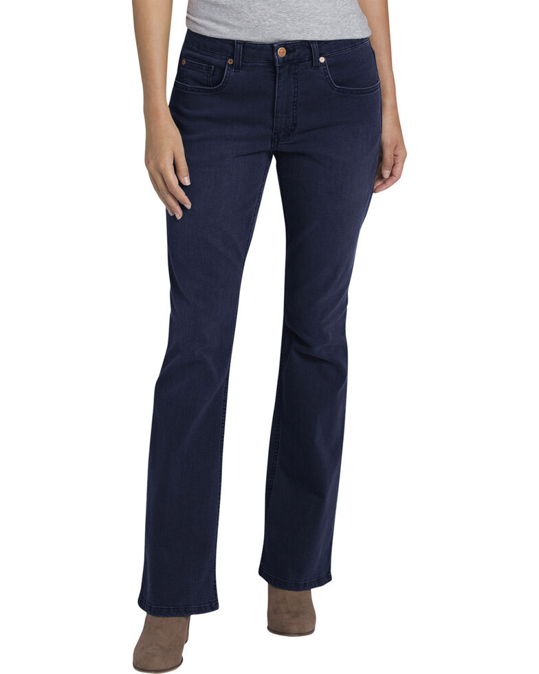 Women's Dickies Perfect Shape Stretch Denim Bootcut Jeans, Indigo, hi-res