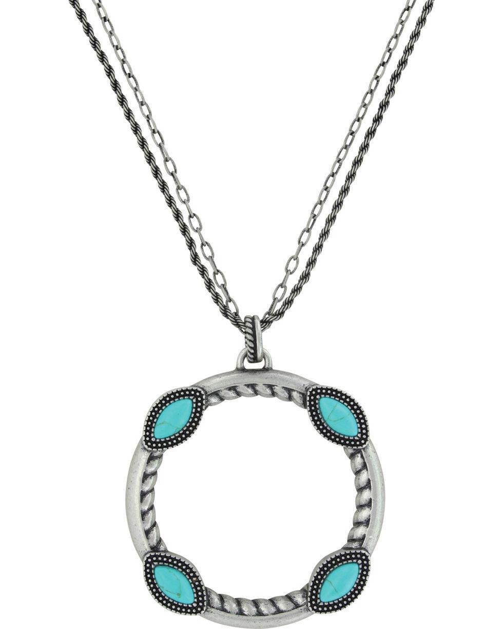 Montana Silversmiths Women's Marquise Circular Attitude Necklace, Silver, hi-res