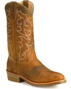 Double-H Men's Folklore Western Work Boots, Brown, hi-res