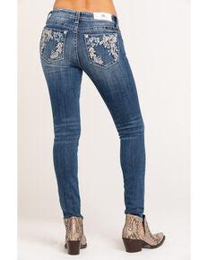 "Miss Me Women's Floral 30"" Skinny Jeans, Blue, hi-res"
