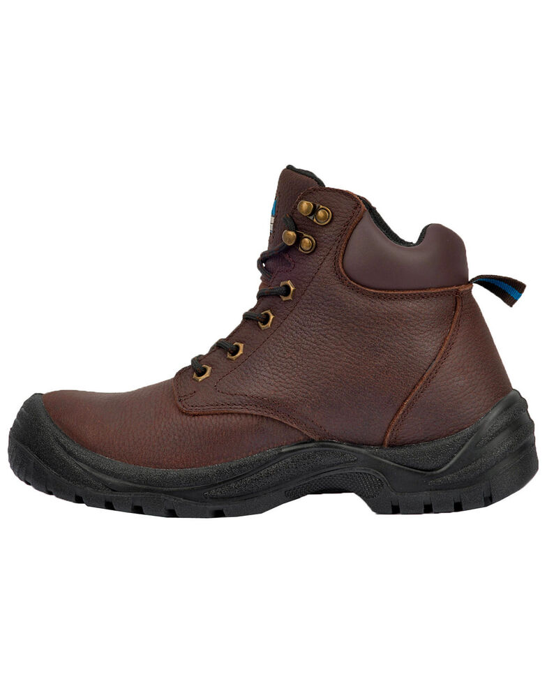 "McRae Men's 6"" Lace-Up Work Boots - Steel Toe, Brown, hi-res"