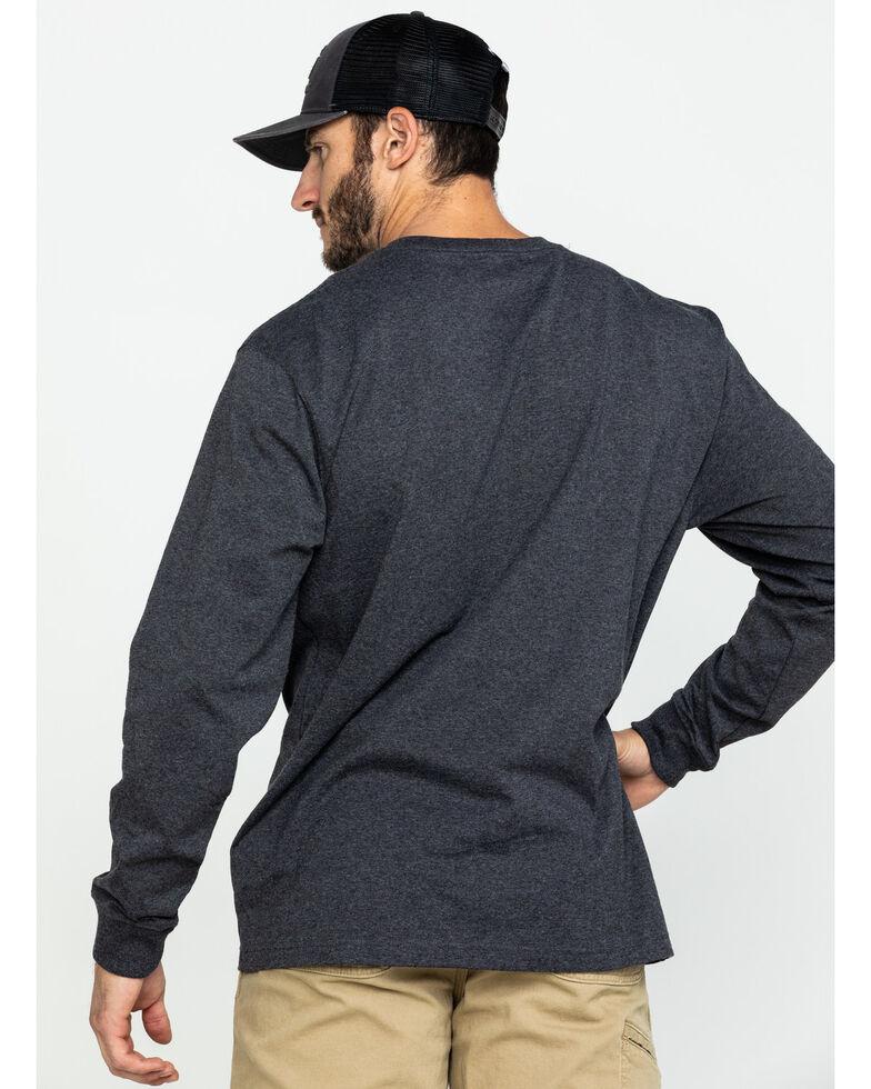 Carhartt Men's Solid Pocket Long Sleeve Work T-Shirt , Charcoal, hi-res