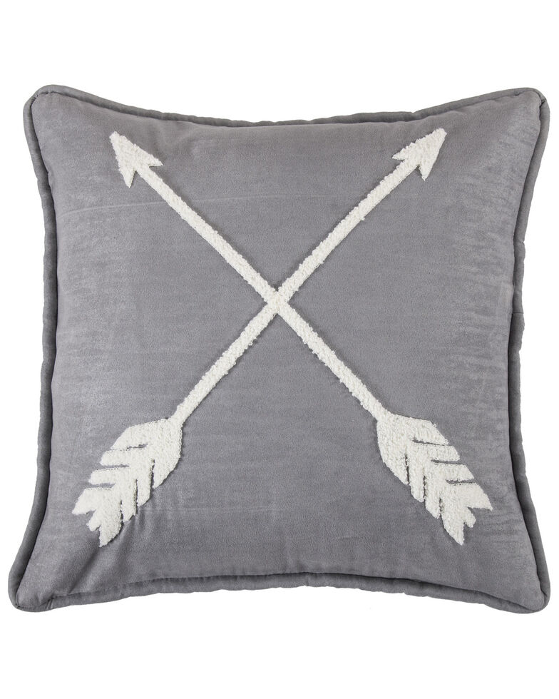 HiEnd Accents Free Spirit Arrow Pillow, Grey, hi-res