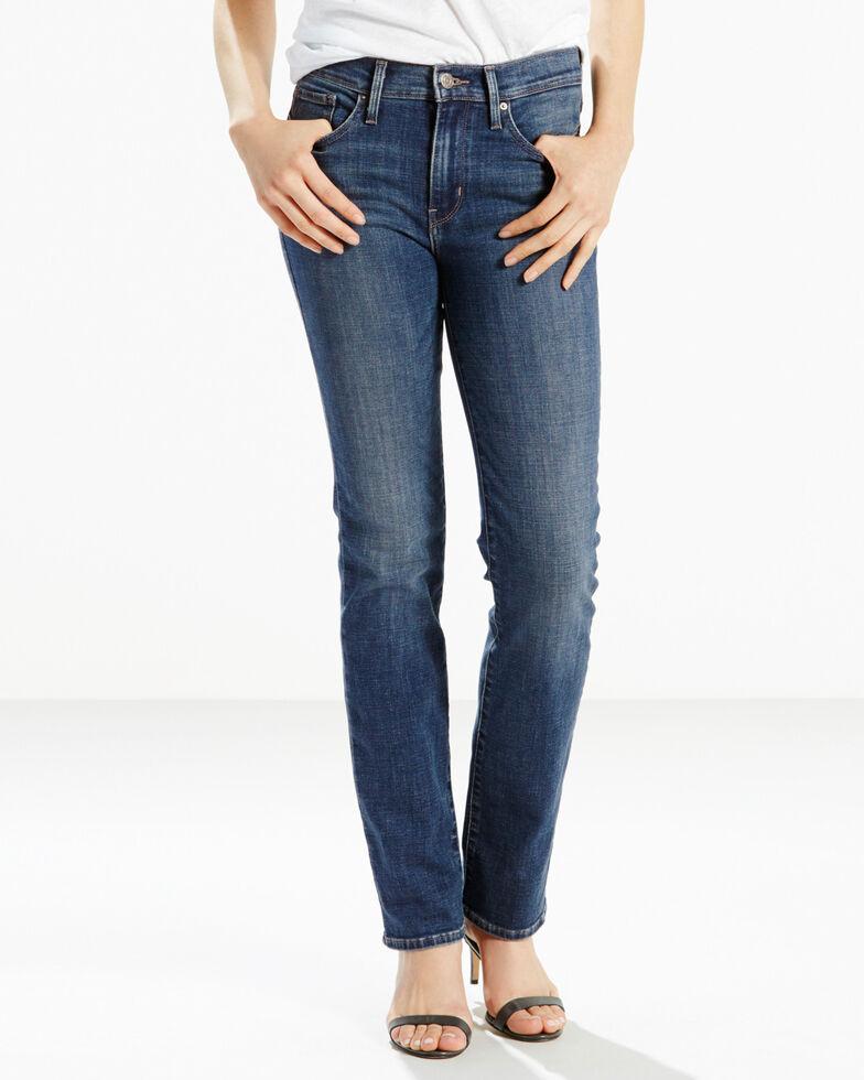 Levis Women's 311 Lavender Hill Slimming Straight Jeans - Straight Leg , Blue, hi-res