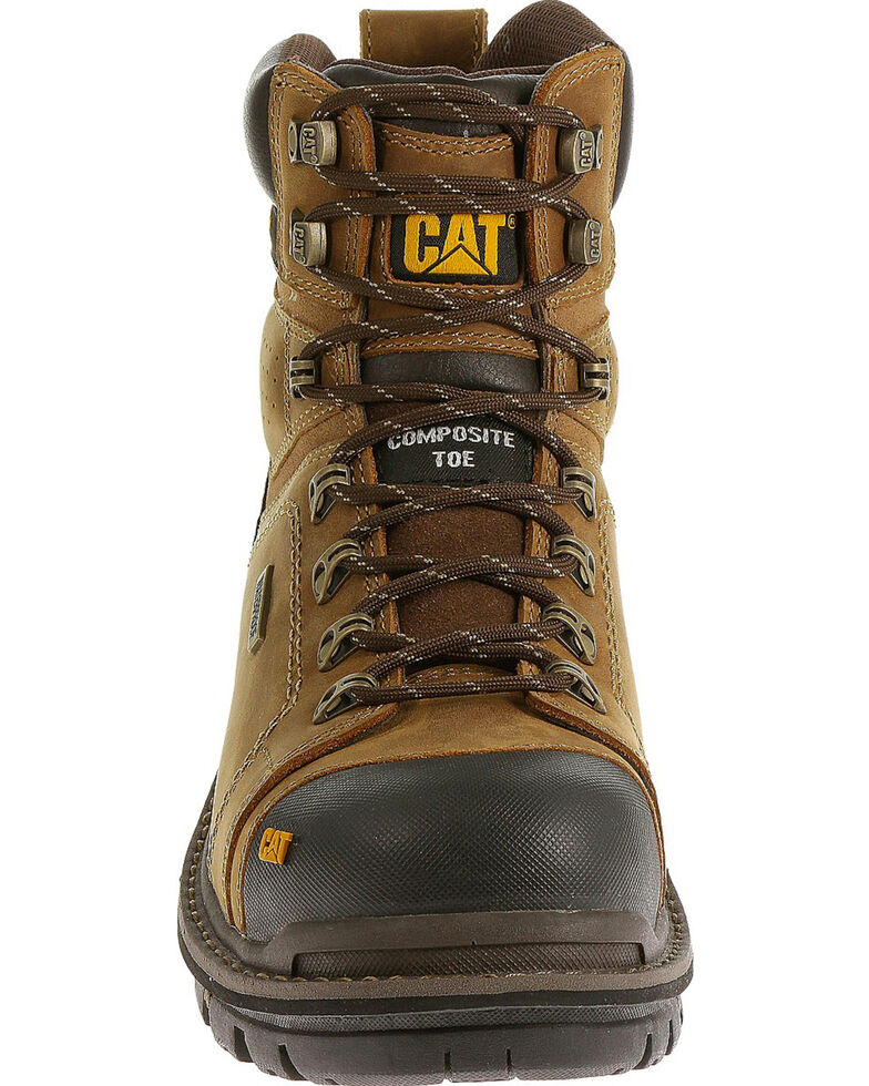 """CAT Men's Hauler 6"""" Waterproof Composite Toe Work Boots, Light Brown, hi-res"""