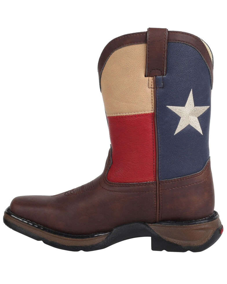 Durango Kid's Lone Star State Western Boots, Brown, hi-res