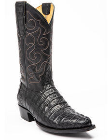 Moonshine Spirit Men's Rock City Fuscus Caiman Western Boots - Snip Toe, Black, hi-res