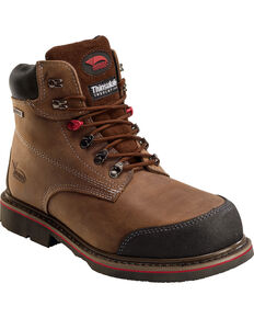 Avenger Men's Composite Toe high Heat Work Boots, Brown, hi-res