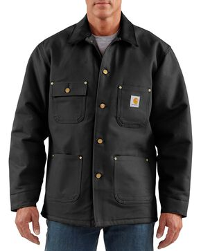 Carhartt Men's Duck Chore Coat, Black, hi-res