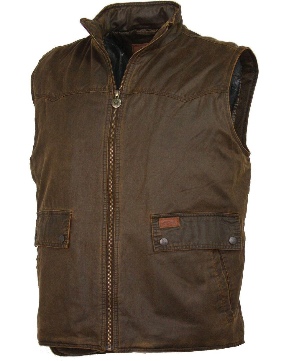 Outback Men's Water Resistant Landsman Vest, Brown, hi-res