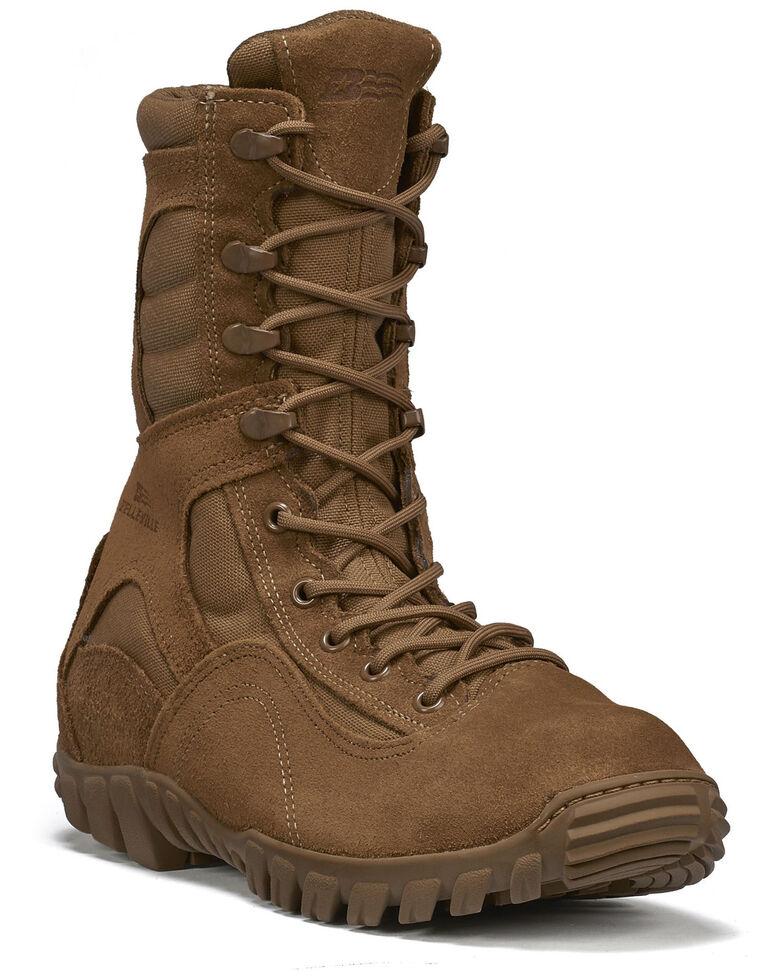 Belleville Men's Sabre Hot Weather Assault Boots - Steel Toe, Coyote, hi-res