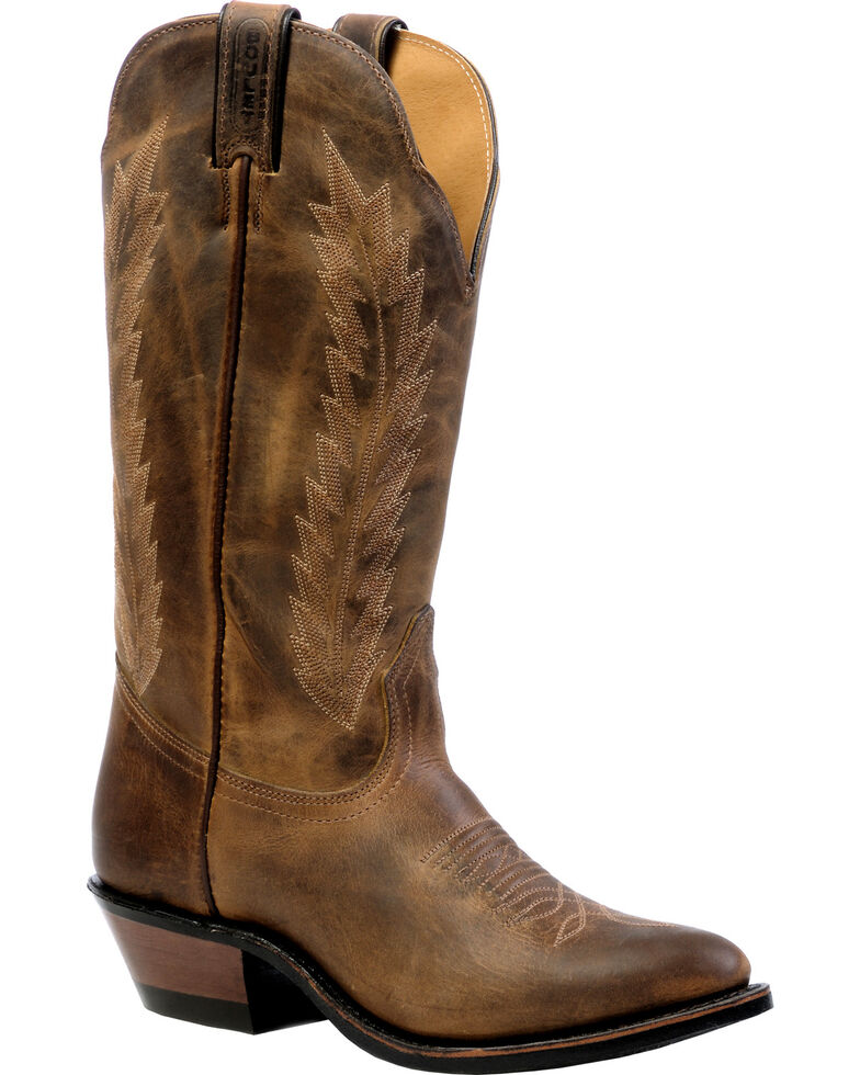 Boulet Hillbilly Golden Rider Sole Cowgirl Boots - Medium Toe, Brown, hi-res