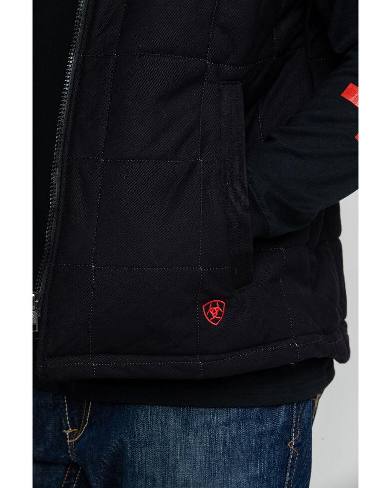 Ariat Men's Black FR Crius Insulated Work Vest - Tall , Black, hi-res