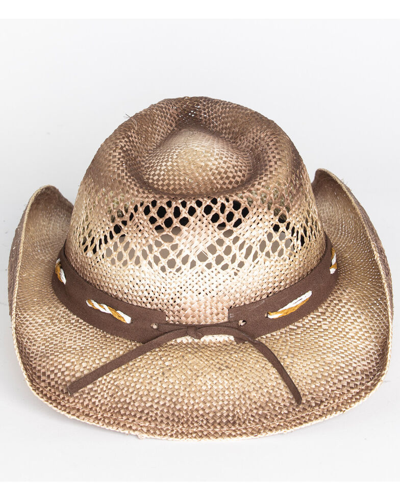Shyanne® Women's Shaggy Straw Hat , Brown, hi-res