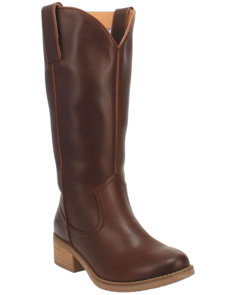Dingo Women's Homestead Western Boots - Round Toe, Brown, hi-res