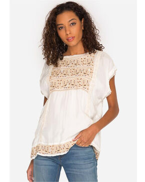 Johnny Was Women's Bertie Cupra Blouse, Natural, hi-res